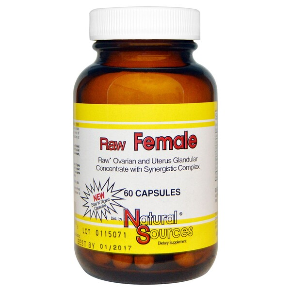 Natural Sources, Raw Female, 60 Capsules