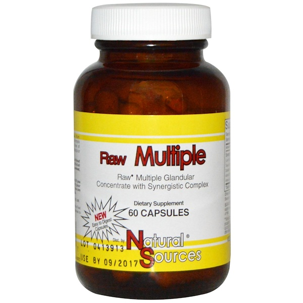 Natural Sources, Raw Multiple, 60 Kapseln