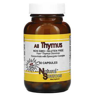 Natural Sources, All Thymus 胸腺膠囊,60 粒裝