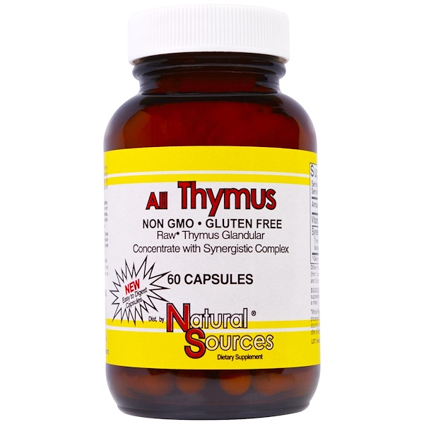 Natural Sources, All Thymus, 60 Cápsulas