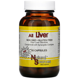 Natural Sources, All Liver, 60 Capsules
