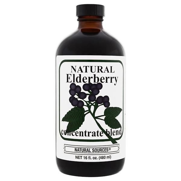Natural Sources, Natural Elderberry Concentrate, 16 fl oz (480 ml) (Discontinued Item)