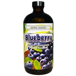 Natural Sources, Blueberry Drink Concentrate, Naturally Sweetened, 16 fl oz (480 ml)