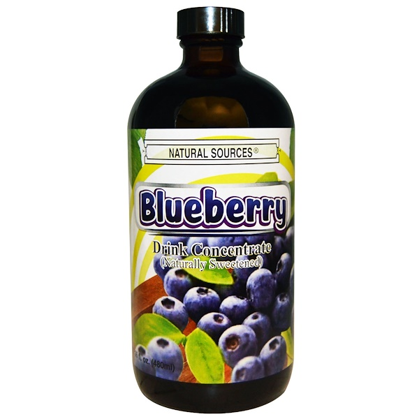 Natural Sources, Blueberry Drink Concentrate, Naturally Sweetened, 16 fl oz (480 ml) (Discontinued Item)