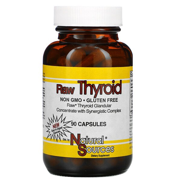 Raw Thyroid, 90 Capsules