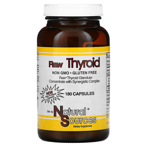 Raw Thyroid, 180 Capsules