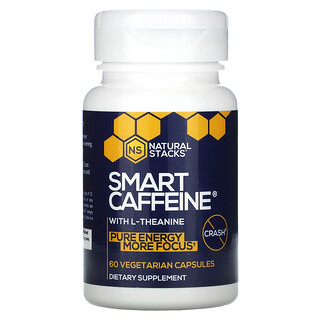 Natural Stacks, Smart Caffeine With L-Theanine, 60 Vegetarian Capsules