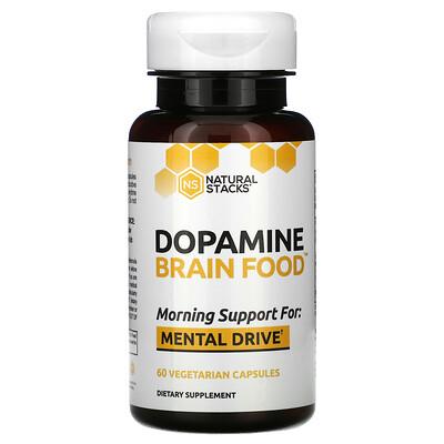 Купить Natural Stacks Dopamine Brain Food, 60 Vegetarian Capsules
