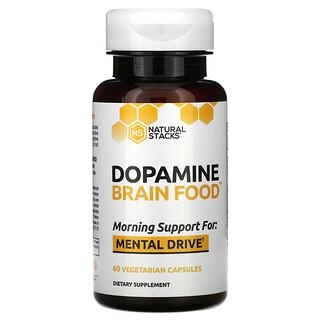 Natural Stacks, Dopamine Brain Food, 60 Vegetarian Capsules