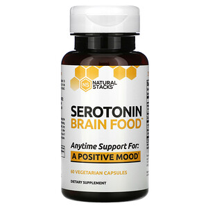 Natural Stacks, Serotonin Brain Food, 60 Vegetarian Capsules