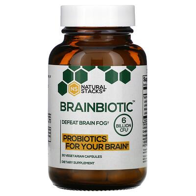 Купить Natural Stacks Brainbiotic, 6 Billion CFU, 30 Vegetarian Capsules