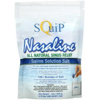 Squip, Nasaline, Saline Solution Salt, 12 oz (340 g)