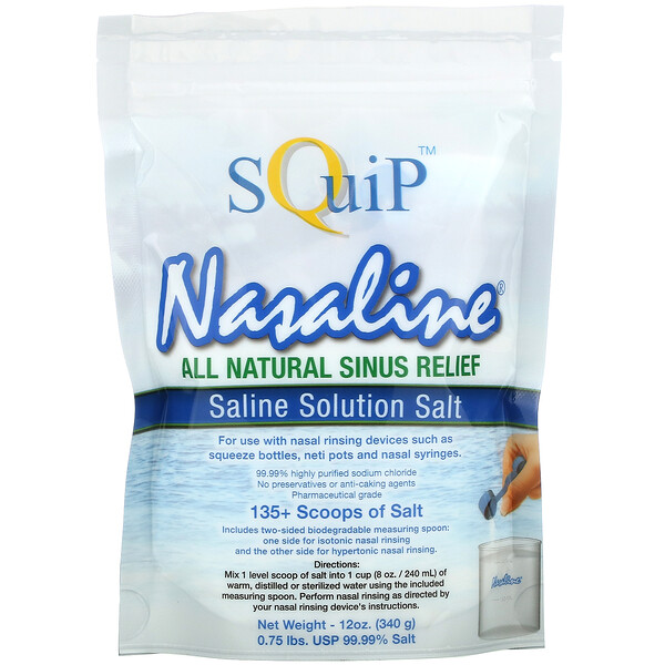 Nasaline, Saline Solution Salt, 12 oz (340 g)