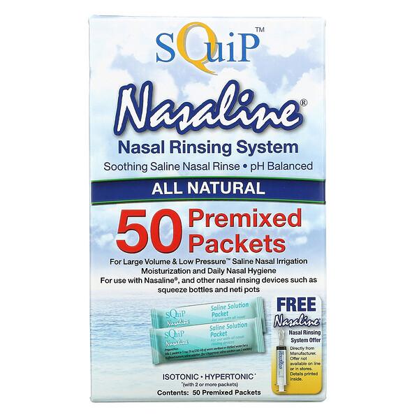 Nasaline, Nasal Rinsing System, 50 Premixed Packets