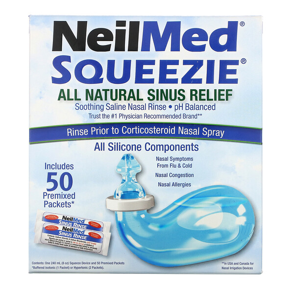 Squip, NeilMed Squeezie, All Natural Sinus Relief, 1 Kit