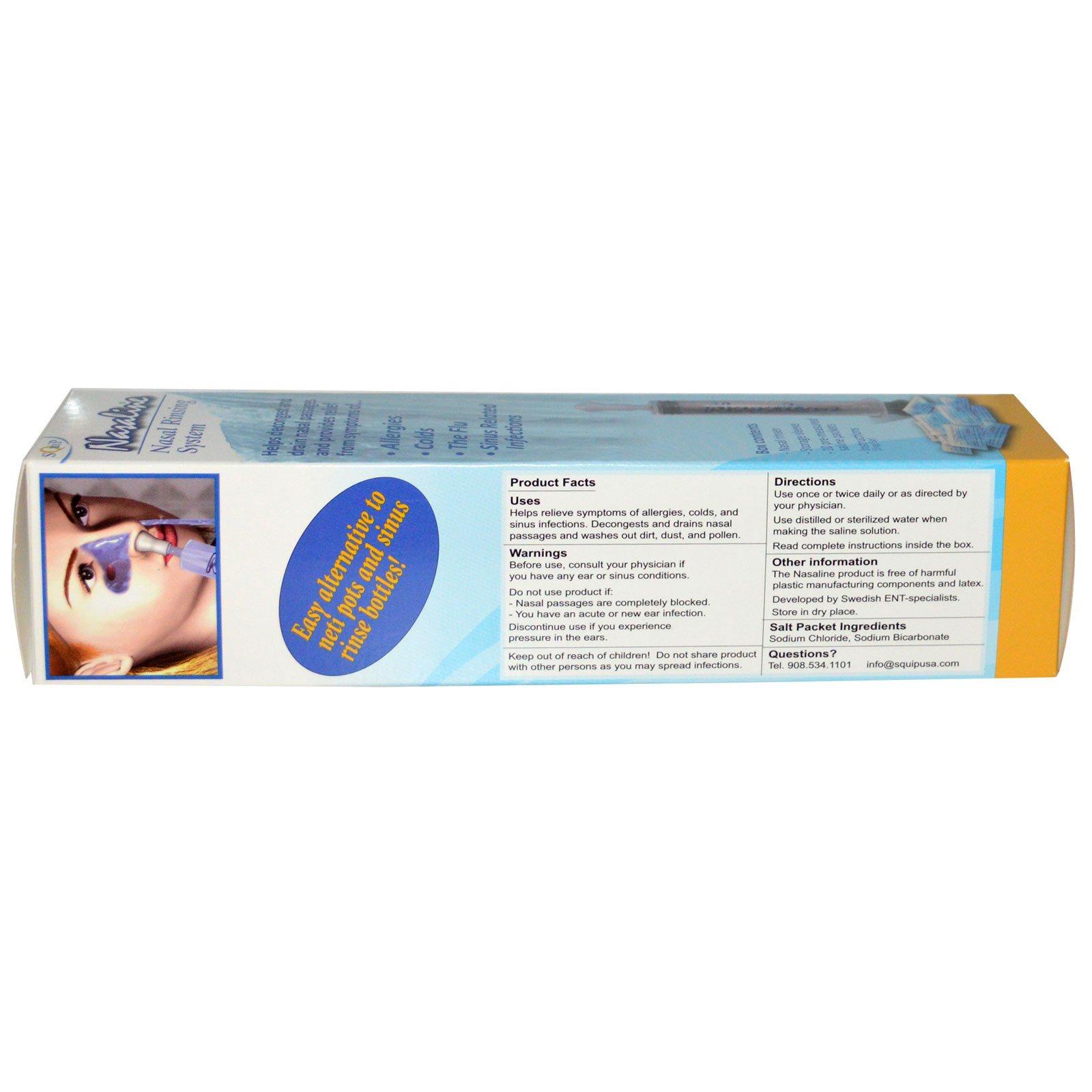 Nasaline Squip Nasal Rinsing System 1 Kit Iherb