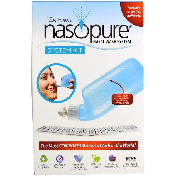 Nasopure, Sistema de Lavagem Nasal, Kit do Sistema, 1 Kit