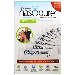Nasopure, Kit de recarga para el sistema de lavado nasal, 1 Kit
