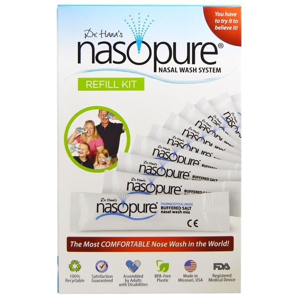 Nasopure, Система для промывки носа, набор для заправки, 1 набор