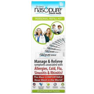 Nasopure, Промывание носа, для самостоятельного приготовления раствора, 20 пакетиков с солью