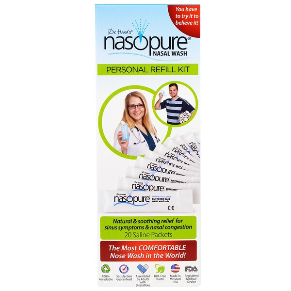 Nasal Wash, Personal Refill Kit, 20 Saline Packets