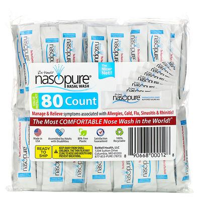Купить Nasopure Средство для промывания носа, многоразовый перезаправляющийся набор, 80пакетиков