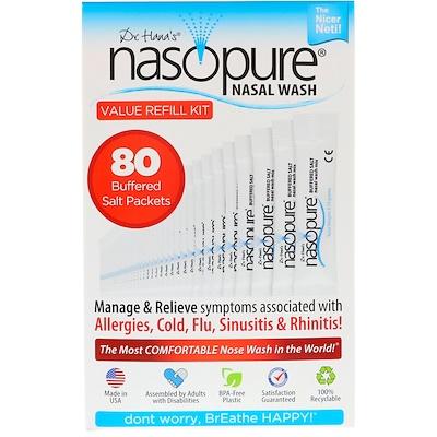 Nasopure 洗鼻劑,超值補充裝,80包緩衝鹽
