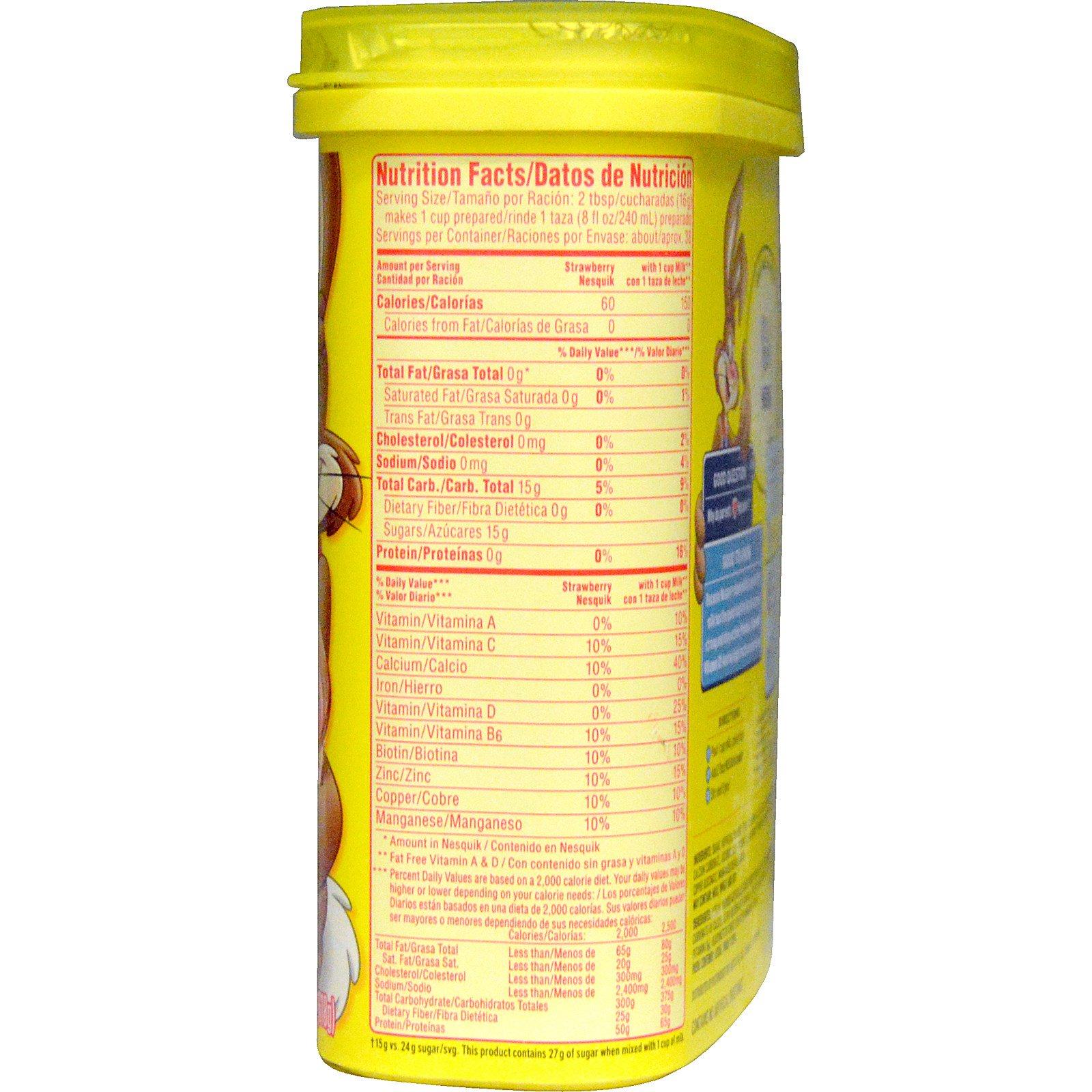 Nesquik, Nestle, Strawberry, 21.8 oz