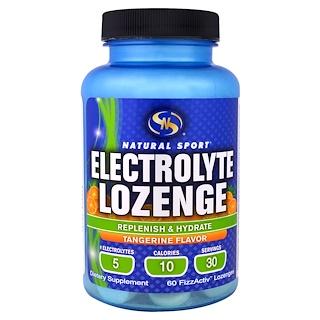 Natural Sport, Electrolyte Lozenge, Tangerine Flavor, 60 FizzActiv Lozenges