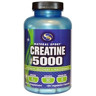 Natural Sport, Creatine 5000, 180 Veggie Caps