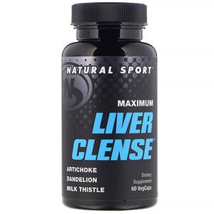 Натурал Спортс, Maximum Liver Clense, 60 VegCaps отзывы