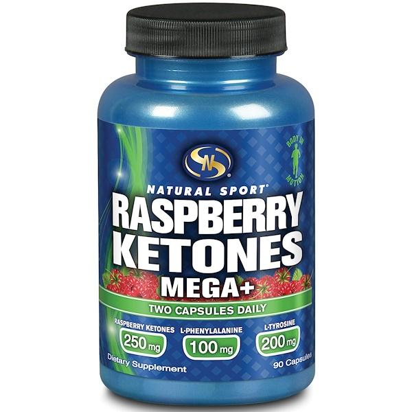 Natural Sport, Raspberry Ketones Mega +, 250 mg, 90 Capsules (Discontinued Item)