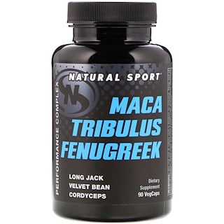 Natural Sport, Maca, Tribulus, Fenugreek, Performance Complex, 90 Veggie Caps