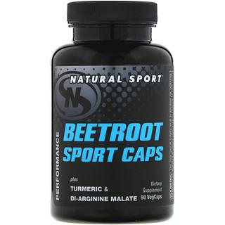 Natural Sport, Beetroot Sport Caps, 90 VegCaps