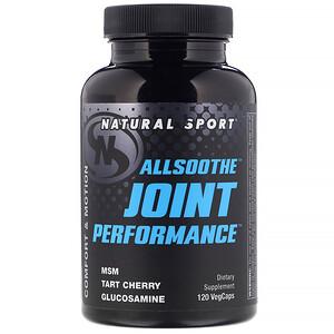 Натурал Спортс, AllSoothe, Joint Performance, 120 VegCaps отзывы