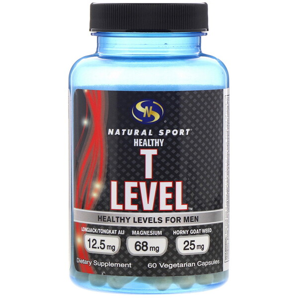Natural Sport, Healthy T Level for Men, 60 Vegetarian Capsules