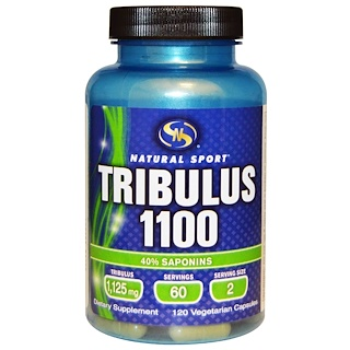 Natural Sport, Tribulus 1100, 120 Veggie Caps