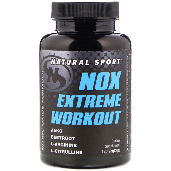 Natural Sport, NOX Extreme Workout, 120 VegCaps