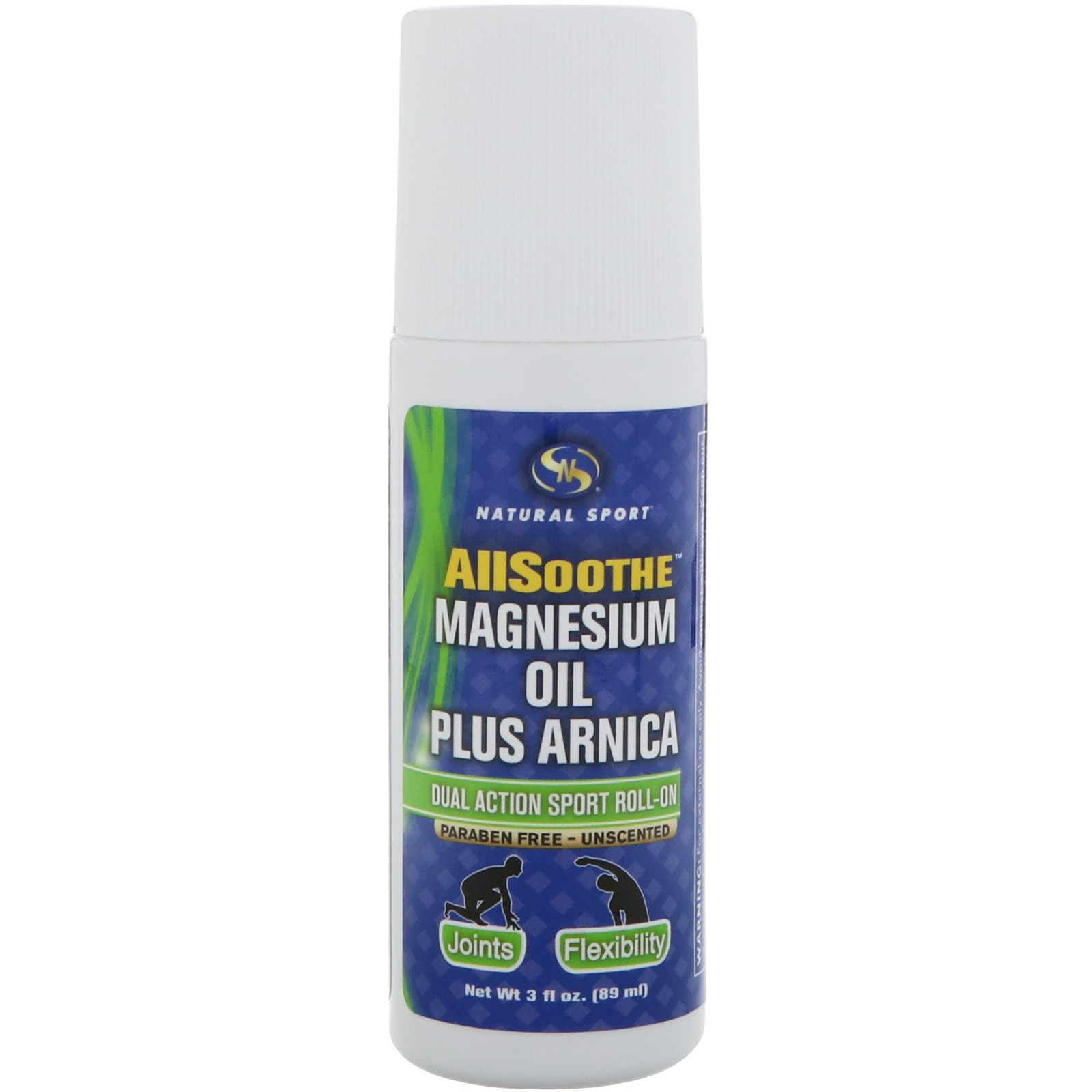 Natural Sport, AllSoothe, Magnesium Oil Plus Arnica, Unscented, 3 fl oz (89 ml)