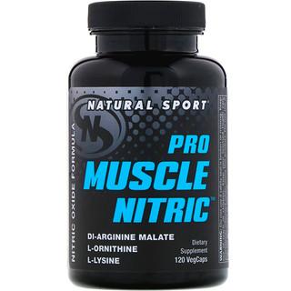 Natural Sport, Pro Muscle Nitric, 120 VegCaps