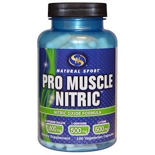 Natural Sport, Pro Muscle Nitric, Nitric Oxide Formula, 120 Veggie Caps
