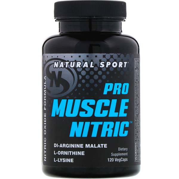 Natural Sport, Pro Muscle Nitric, 120 VegCaps