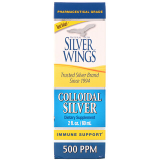 Natural Path Silver Wings, Colloidal Silver, 500 PPM, 2 fl oz (60 ml)