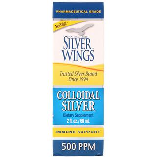 Natural Path Silver Wings, Kolloidales Silber, 500 PPM, 2 fl. oz. (60 ml)