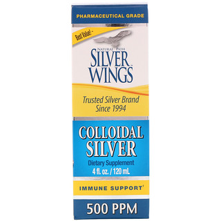 Natural Path Silver Wings, Colloidal Silver, 500 ppm, 4 fl oz (120 ml)