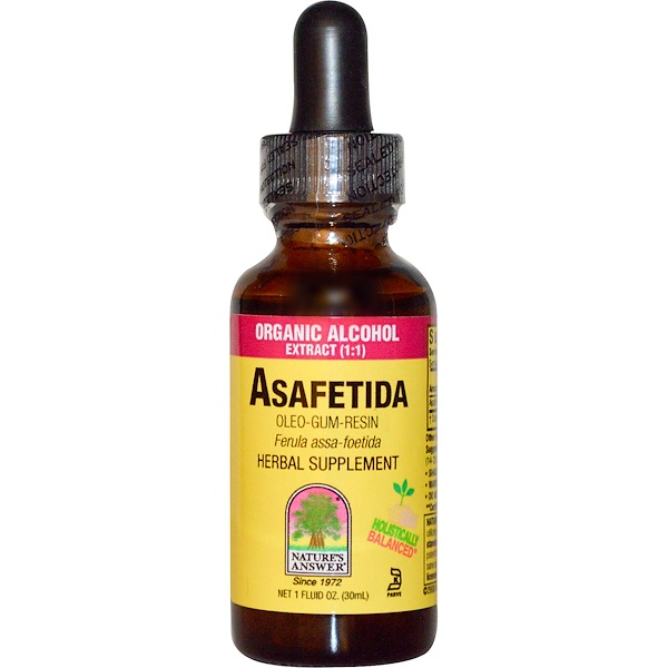 Nature's Answer, Asafetida, Organic Alcohol Extract, 1 fl oz (30 ml) (Discontinued Item)