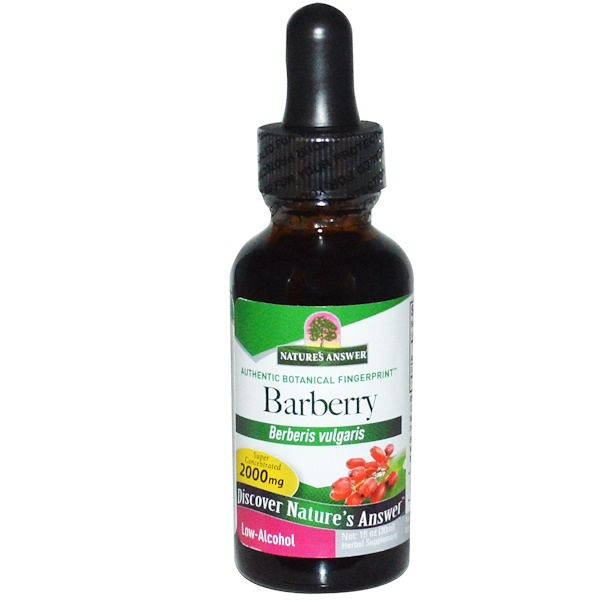 Nature's Answer, Barberry, Low-Alcohol, 2,000 mg, 1 fl oz (30 ml)
