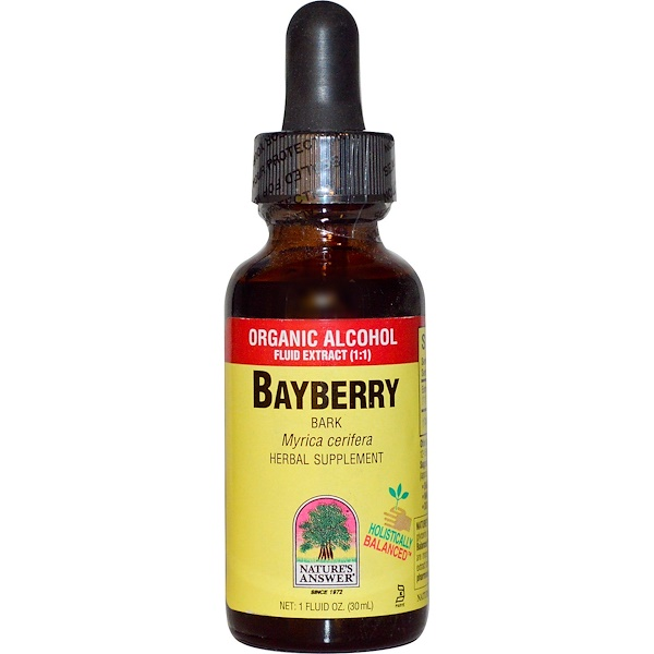 Nature's Answer, Bayberry, Bark, Organic Alcohol Fluid Extract (1:1), 1 fl oz (30 ml) (Discontinued Item)