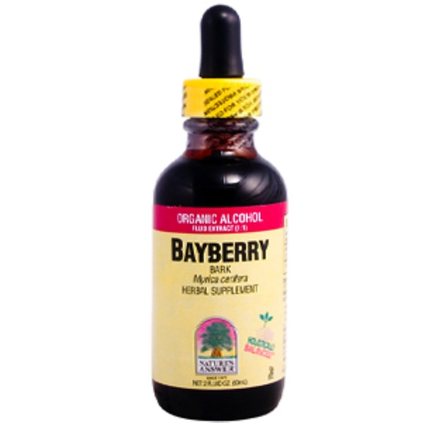 Nature's Answer, Bayberry Bark, Organic Alcohol Extract, 2 fl oz (60 ml) (Discontinued Item)