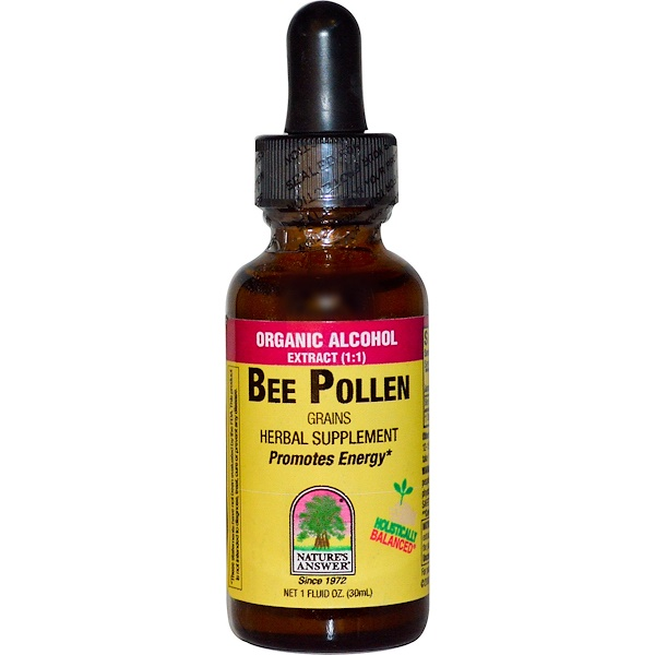Nature's Answer, Bee Pollen, Organic Alcohol, 1 fl oz (30 ml) (Discontinued Item)